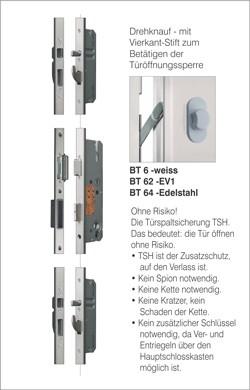 BTS 5 6-fach Verriegelung mit Rundbolzen und Haken mit Türspaltsicherung Edelstahl