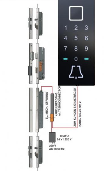 BT 600 5-fach Bolzen-Schwenkriegel Motorverriegelung, Fingerscan, Tastatur, NFC und Klingel