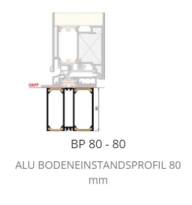 P 80 Bodeneinstand Neubau